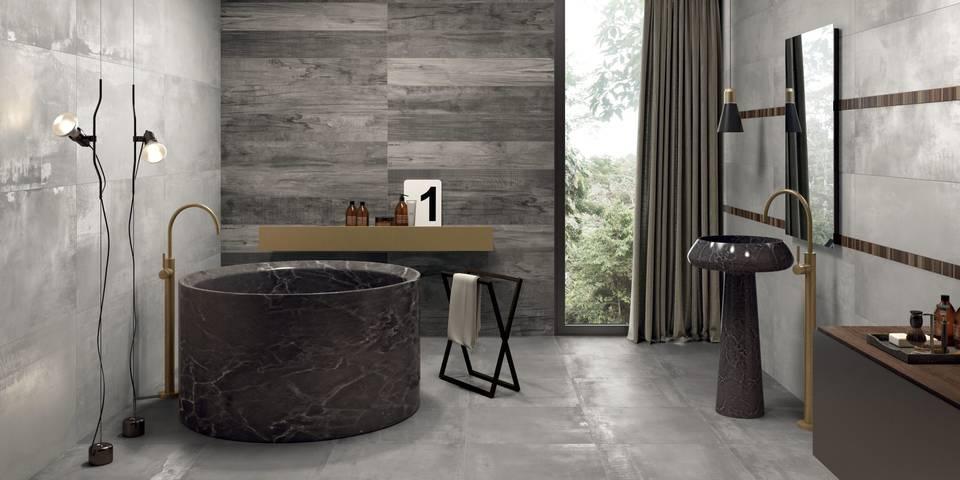 Inspirasjon archives modena fliser for Salle de bain grise et bois