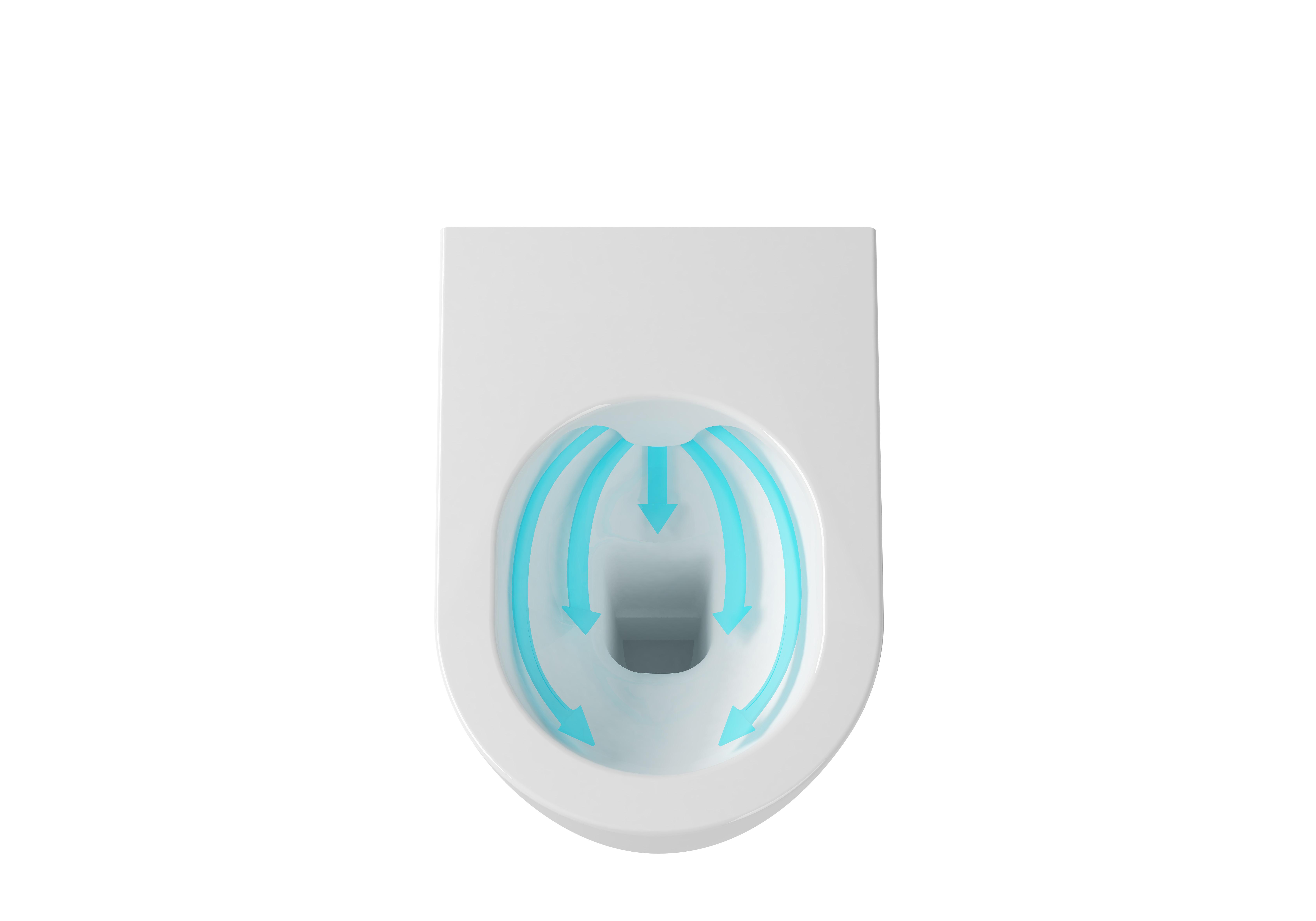 WC Uni Chrome RimOff horni pohled sipky RAVAK 2016