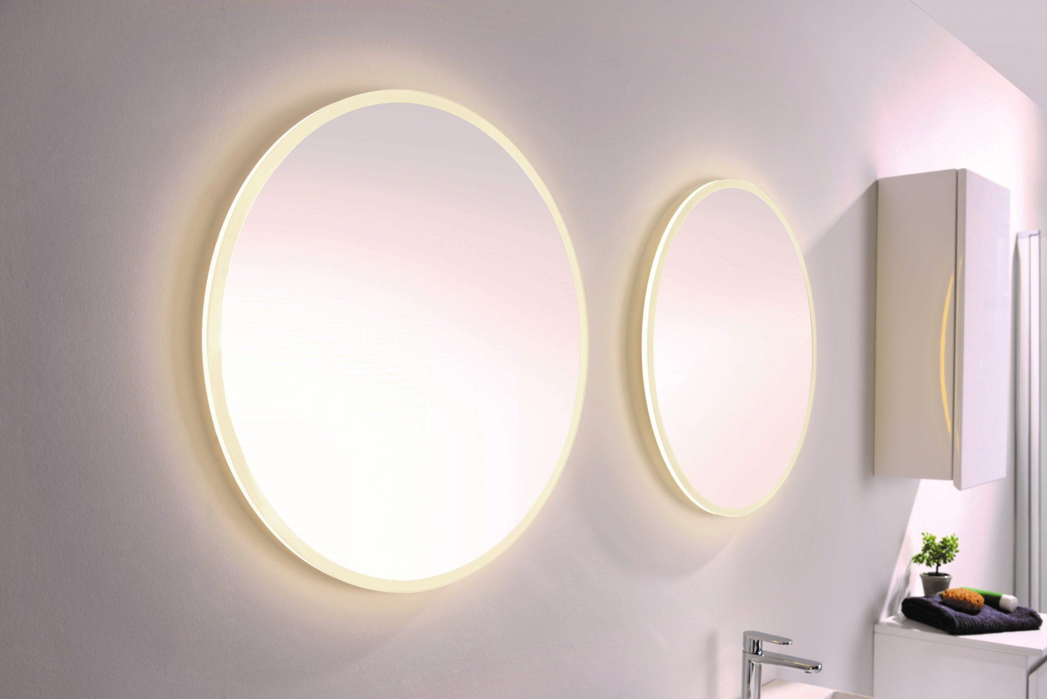 Forskjellige Tivoli rundt speil med LED-lys Ø110 cm - Modena Fliser DP-01
