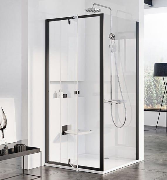 Ravak Pivot sort dusjdør 80 cm