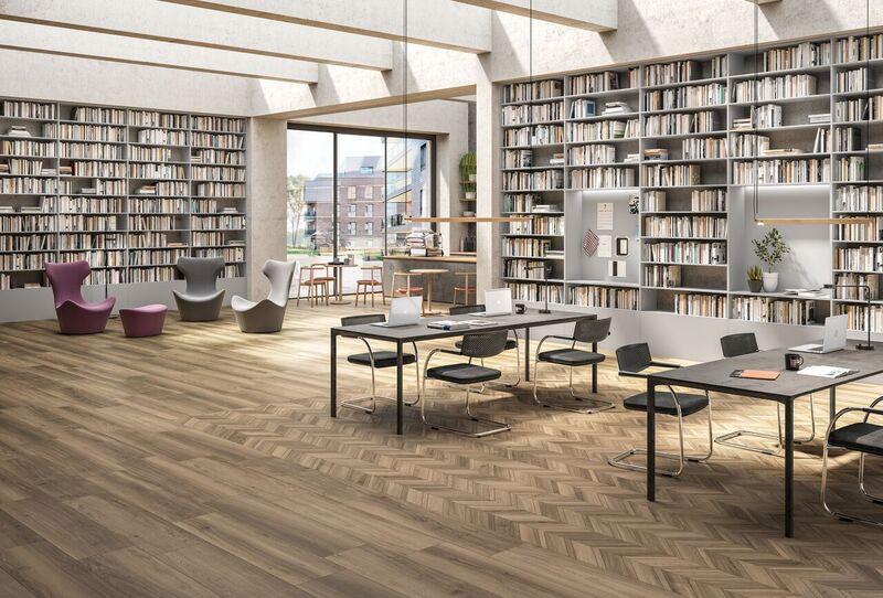 Bibliotek Cendre Chevron og base